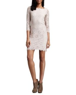 Womens Zarita Lace Dress, Nude   Diane von Furstenberg