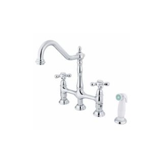 Elements of Design ES1271AX New Orleans Two Handle Kitchen Faucet With Spray