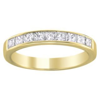 1/4 CT.T.W. Diamond Band Ring in 14K Yellow Gold   Size 7.5
