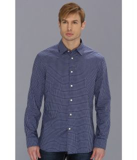 John Varvatos Slim Fit Shirt w/ Point Collar Mens Long Sleeve Button Up (Purple)
