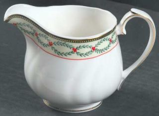 Wedgwood Royal Garland Creamer, Fine China Dinnerware   Royal Court Bone,Leaves,
