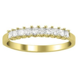 1/2 CT.T.W. Diamond Band Ring in 14K Yellow Gold   Size 8