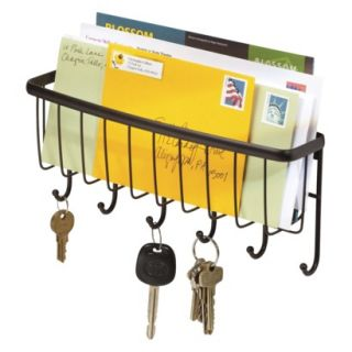 interDesign Axis Wallmount Mail & Key Rack Bronze