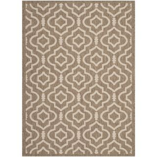 Safavieh Indoor/ Outdoor Courtyard Brown/ Bone Area Rug (4 X 57)