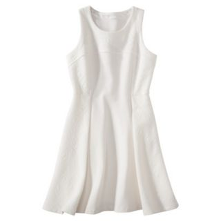 labworks Womens Ponte Sleeveless Dress   White XXL