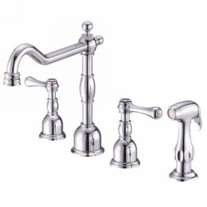 Danze D422057 Opulence Two Handle Kitchen Faucet with Side Spray