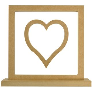 Beyond The Page Mdf Heart Frame 11.5x10.5x2 (290x265x50mm)