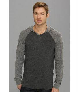 Lucky Brand Colorblock Hoodie Mens Sweatshirt (Gray)
