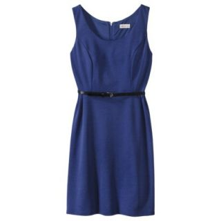 Merona Petites Sleeveless Fitted Dress   Blue MP