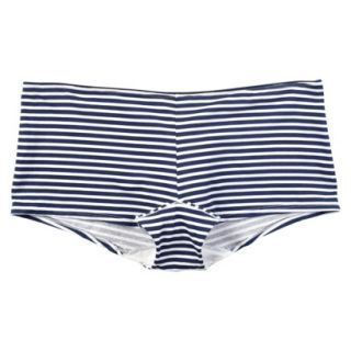 JKY By Jockey Womens Cotton Stretch Boyshort   Navy Stripe 6