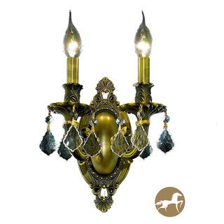 Christopher Knight Home Aubonne 2 light Royal Cut Crystal/ Antique Bronze Wall Sconce (Crystal and aluminumFinish Antique bronzeNumber of lights Two (2)Requires two (2) 60 watt max bulb (not included)Bulb type E12, 110V 125VDimensions 9 inches length