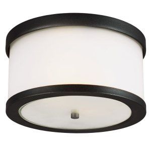 Sea Gull Lighting SEA 7822402 12 Bucktown Two Light Outdoor Ceiling Flush Mount