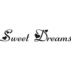 Sweet Dreams Vinyl Wall Art Quote (BlackMaterials VinylTransfers to wall in minutesEasy to apply, removeApplication instructions includedDimensions 6.1 inches high x 36 inches wide  )