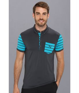 PUMA Golf Lux Pocket Polo Mens Short Sleeve Pullover (Black)