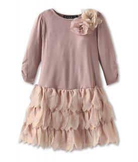 Biscotti Shimmering Rose L/S Drop Waist Dress Girls Dress (Gold)