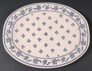 Johnson Brothers Petite Fleur Blue 12 Oval Serving Platter, Fine China Dinnerwa