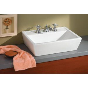 Cheviot 1237 18 WH 1 Sentire Vessel Sink with Single Hole Faucet Drilling