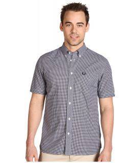 Fred Perry Gingham Shirt Mens Clothing (Black)