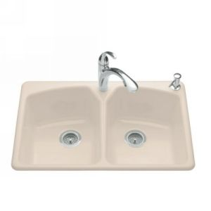 Kohler K 6491 1 55 Tanager Tanager Self Rimming Kitchen Sink  Single Hole Faucet