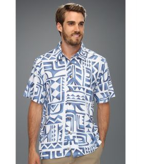 Quiksilver Waterman Tama Reef Shirt Mens Short Sleeve Button Up (Navy)