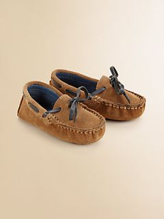 Cole Haan Infants Suede Moccasin Drivers   Tan