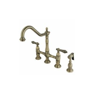 Elements of Design ES1273ALBS New Orleans Two Handle Kitchen Faucet With Spray