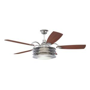 Ellington Fans ELF E ROU54CH5LKRW Rousseau 54 Ceiling Fan w/Light Kit light kit