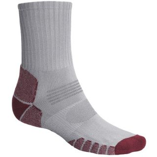 Eurosock Path Hiker Socks   Crew (For Men and Women)   SILVER/FOREST (S )