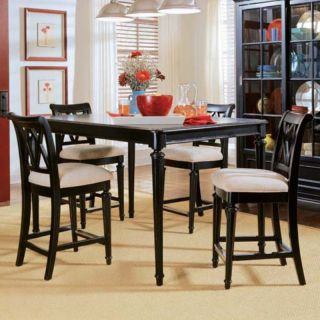 American Drew Camden Black 5 pc. Counter Height Table Set   ADL4343