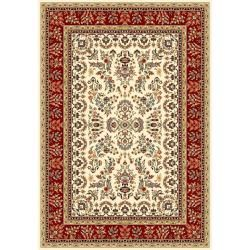 Lyndhurst Collection Ivory/ Red Rug (4 X 6)