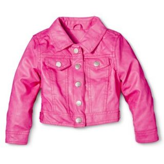 Dollhouse Infant Toddler Girls Faux Leather Jacket   Pink 3T