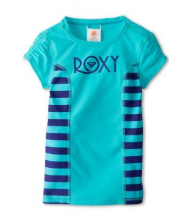 Roxy Kids Roxy Escape Low Tide S/S Rashguard Girls Swimwear (Blue)