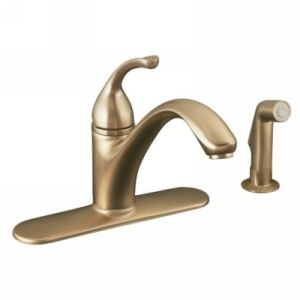 Kohler K 10412 BV Forte Single Handle Kitchen Faucet with Sidespray