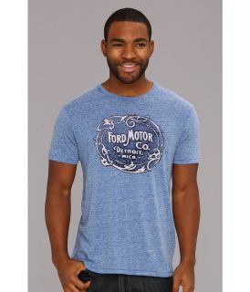 Lucky Brand Vintage Ford Logo Mens Short Sleeve Pullover (Blue)