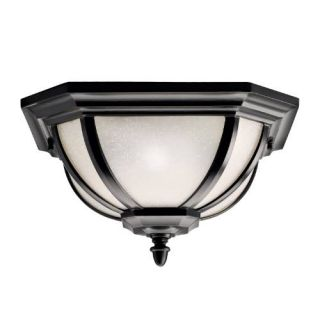 Kichler 9848RZ Outdoor Light, Transitional Flush Mount 2 Light Fixture Rubbed Bronze