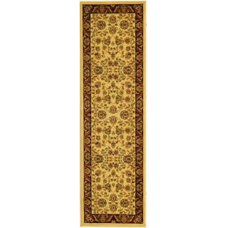 Lyndhurst Collection Tabriz Ivory/ Red Runner (23 X 16)
