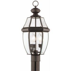 Thomas Lighting THO SL902463 Heritage Lantern post Painted Bronze 3x