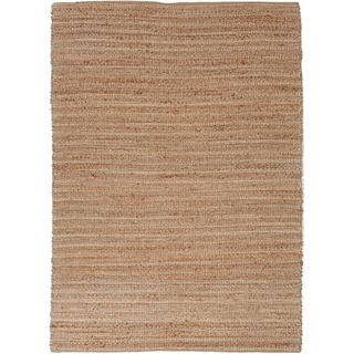 Handmade Naturals Solid Pattern Brown Jute Rug (36 X 56)