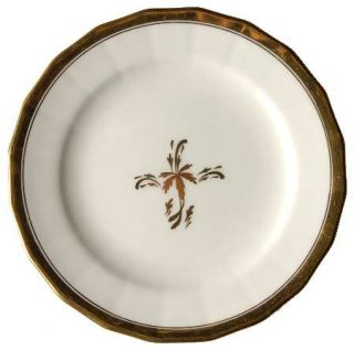Royal Cauldon Tea Leaf Bread & Butter Plate, Fine China Dinnerware   Gold Tea Le