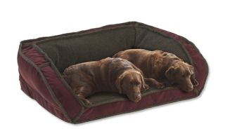 Fleece Deep Dish Dog Bed With Memory Foam / Xlarge Dogs 120+ Lbs., Multiple Dogs., Mahogany,