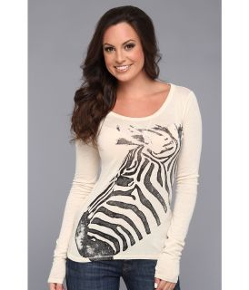 Lucky Brand Zebra Tee Womens T Shirt (White)