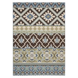 Safavieh Lana Indoor/Outdoor Area Rug   Chocolate/Blue (53x77)