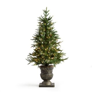 Natural Cut Little Rock Fir Potted Pre Lit Christmas Tree Multicolor   5543 60C