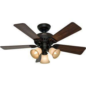 Hunter HUF 53082 The Beacon Hill Small Room or Office Ceiling Fan with light