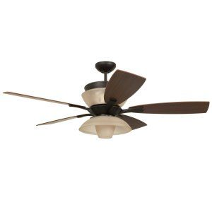 Ellington Fans ELF E ENC54ABZ5CR Enclave 54 Ceiling Fan w/light Kit