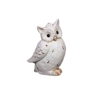 Urban Trends Collection White Antique Finished Ceramic Owl (CeramicDimensions 6 inches wide x 7.25 inches deep x 11.75 inches highModel UTC46602UPC 877101466024For Decorative Purposes OnlyDoes Not Hold Water)
