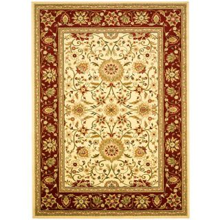 Lyndhurst Collection Majestic Ivory/ Red Rug (6 X 9) (IvoryMeasures 0.375 inch thickTip We recommend the use of a non skid pad to keep the rug in place on smooth surfaces.All rug sizes are approximate. Due to the difference of monitor colors, some rug co