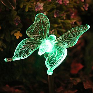 Solar Color Changing Butterfly Garden Stake Light(CSS 57307)