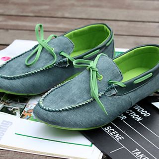 Trend Point Mens Fashionable Cloth Shoes(Green)