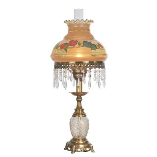 Dale Tiffany Hand Painted Hurricane Table Lamp Multicolor   TT50211